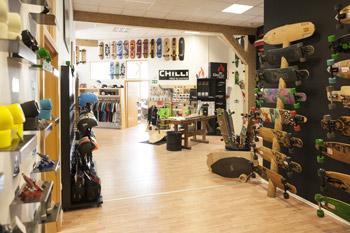 longboard Store Shop Innen
