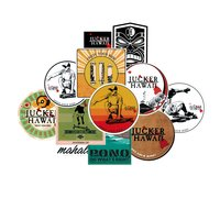 JUCKER HAWAII STICKER PACK Longboard Aufkleber 12 Stk.