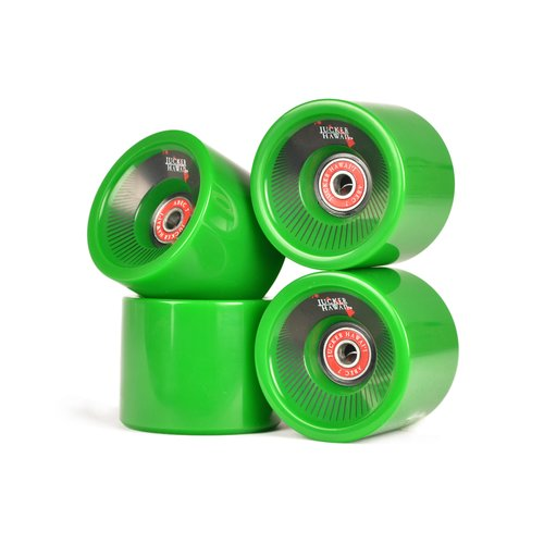 JUCKER HAWAII Longboard Rollen KAHUNA 69mm 78A CP52 inkl. Lager & Spacer (4er Set)