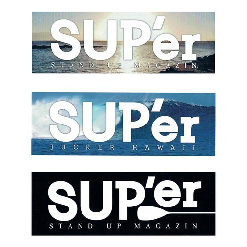 JUCKER HAWAII SUPer STICKER SET (3pcs)