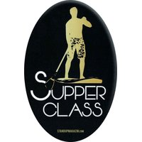 STAND UP MAGAZIN STICKER Supper Class Oval Black