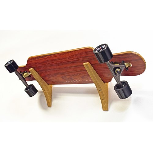 JUCKER HAWAII Longboard / Skateboard Wandhalterung Set WOOD