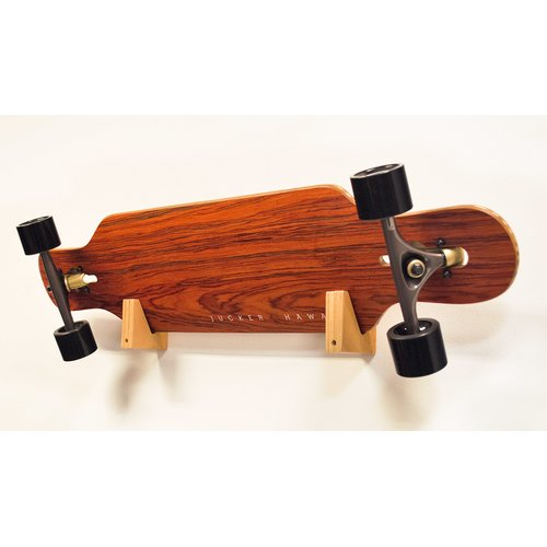 JUCKER HAWAII Longboard / Skateboard Wandhalterung Set WOOD BLOCK